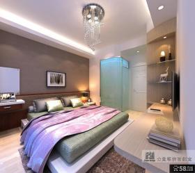 简欧复式楼卧室装修效果图