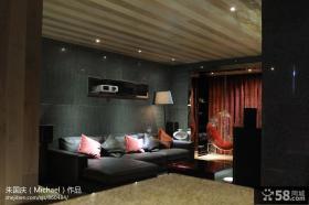小户型客厅大理石电视背景墙装修效果图