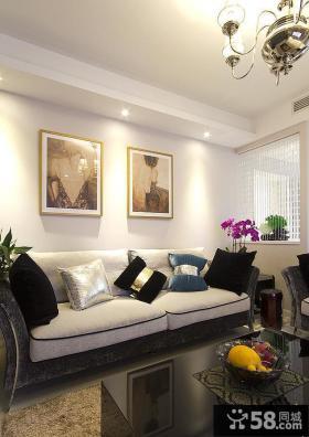 美式简约装饰别墅设计室内效果图