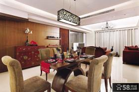 现代中式家庭餐厅装修设计