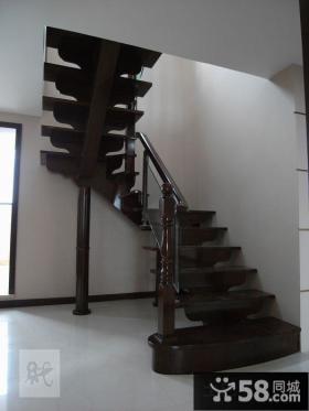 实木复式楼楼梯效果图
