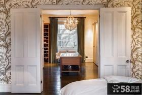 北欧风格卧室衣帽间装修效果图片
