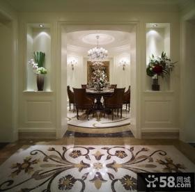 远洋万和城三居室美式风格餐厅装修样板间