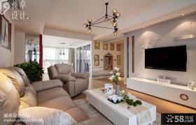 小户型客厅大液晶电视机背景墙效果图欣赏