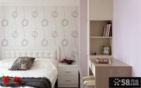 简约时尚卧室床头墙纸