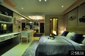 后现代风格卧室床头背景墙图片