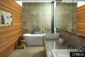 美式风格样板间卫生间图片