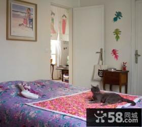 60平米小户型田园风格卧室装修效果图