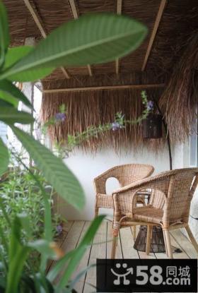 优质东南亚风格别墅阳台室内装饰图片