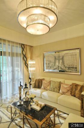 简欧风格设计客厅吊顶图片