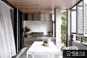 悠闲北欧风格生活阳台设计