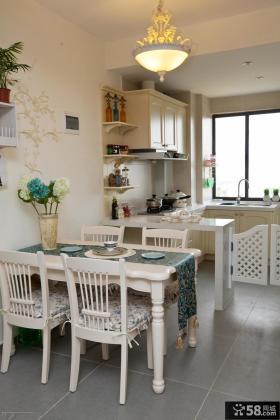 欧式风格餐厅厨房家具装饰效果图