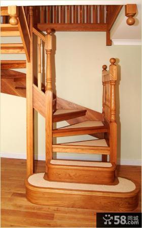 阁楼实木楼梯图片