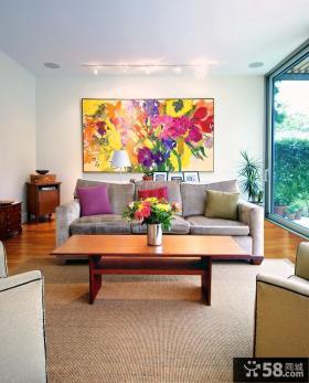 现代客厅装饰画贴图欣赏
