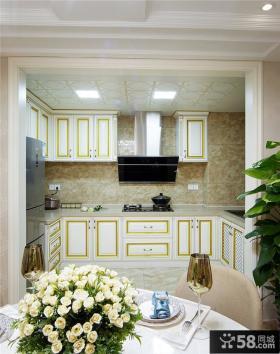 简欧小户型室内厨房设计装饰效果图