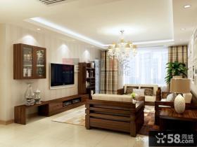 家装现代客厅电视背景墙效果图