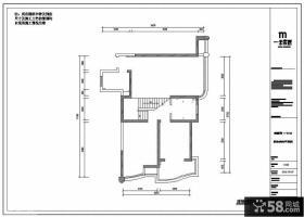 复式楼一楼原始户型图