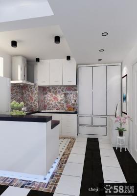 2012年厨房优质白色橱柜装修图片