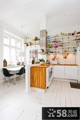 单身公寓厨房餐厅隔断设计