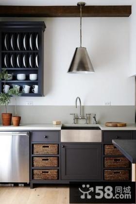 简欧整体厨房灯饰图片