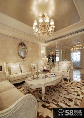 欧式风格家装客厅吊顶效果图