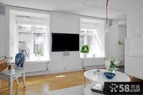 现代风别墅客厅电视背景墙效果图