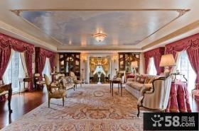 美式奢华的复式楼客厅装修效果图大全2014图片