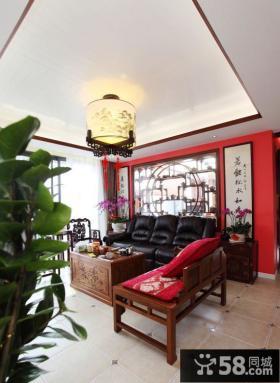 中式风格别墅装修客厅吊灯图片