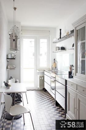 欧式实木橱柜小户型厨房装修效果图大全2012图片