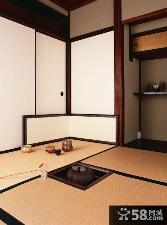 日式家庭茶室装修效果图