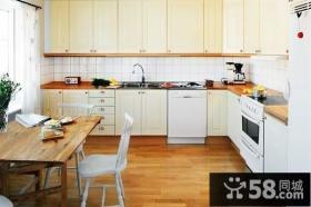 116平米阳光公寓 实用之家复式楼厨房橱柜装修效果图大全2012图片