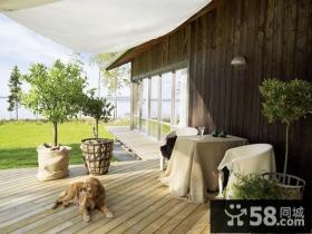 波兰安静的湖边复式楼阳台装修效果图大全2012图片