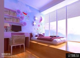儿童卧室榻榻米床效果图