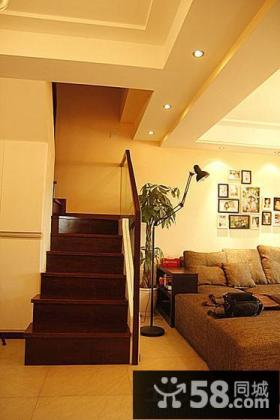 复式楼楼梯设计图片欣赏