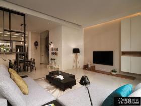 现代简约小复式装修客厅效果图