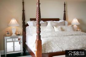 纯白的简约元素北欧风格装修卧室图片