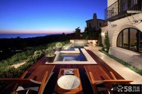 超现代的梦幻美式别墅阳台装修设计效果图