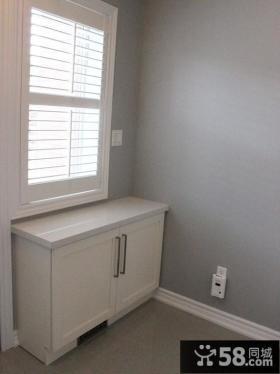 白色门口鞋柜