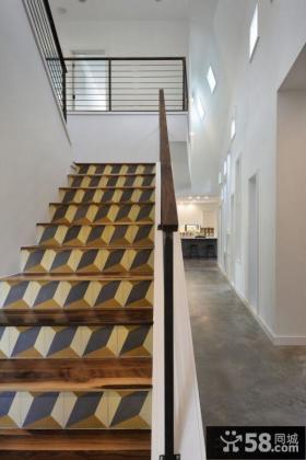 简约复式楼梯图片大全欣赏