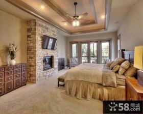 复古风格豪华复式卧室图片欣赏