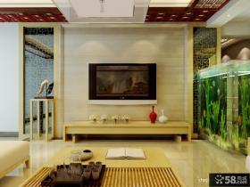 新中式客厅电视背景墙装修效果图大全2013图片