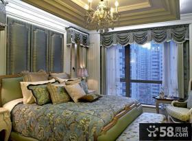 欧式田园设计卧室窗帘效果图