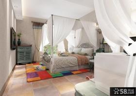 美式乡村风格设计卧室装修效果图片