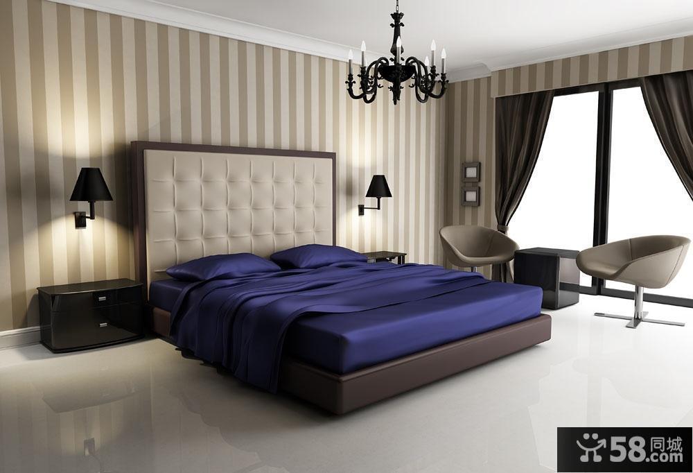 现代风格卧室装修效果图大全2013图片 卧室窗帘图片