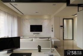 简约式客厅电视背景墙设计