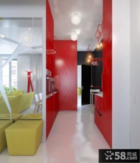 90平米小户型现代几何型客厅装修效果图大全2014图片