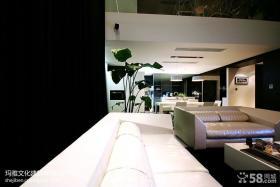 复式楼家装客厅餐厅吊顶效果图
