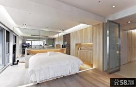 极简主义别墅卧室装修设计效果图