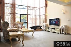 欧式别墅客厅装修效果图大全