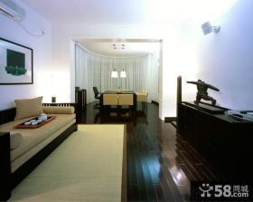 中式风格复式楼客厅餐厅装修效果图